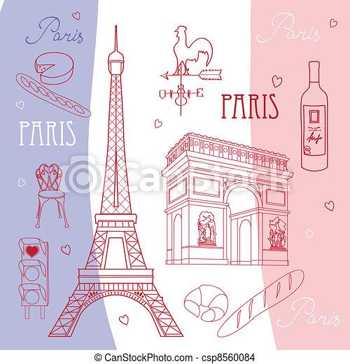 Symbols of Paris - csp8560084