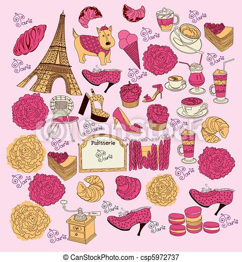 Symbols of Paris - csp5972737