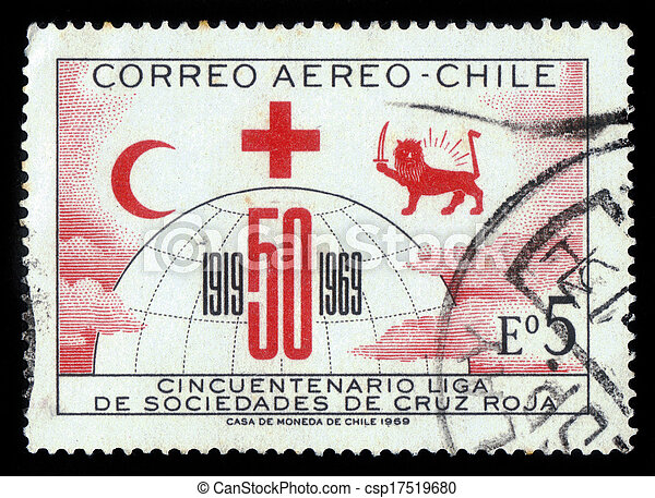 Chile Circa 1969 A Stamp Printed In Chile Shows Symbols Of The