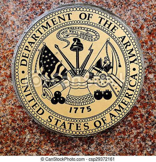 Symbols of USA Military Army Navy Airforce Marines