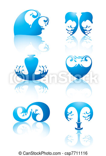 Symbols of water, image, figure - csp7711116