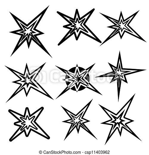 Simbolos de rayos. Vector listo - csp11403962
