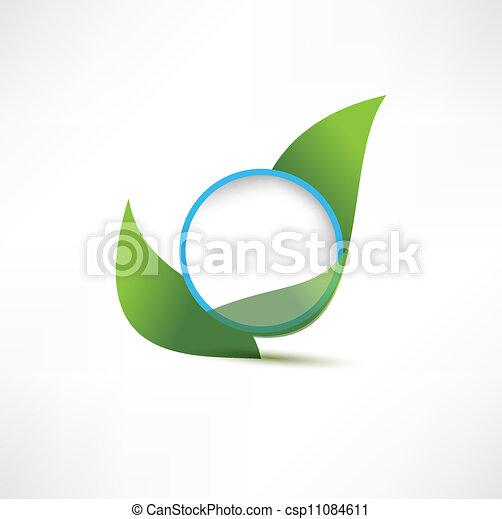 symbols with leaf - csp11084611