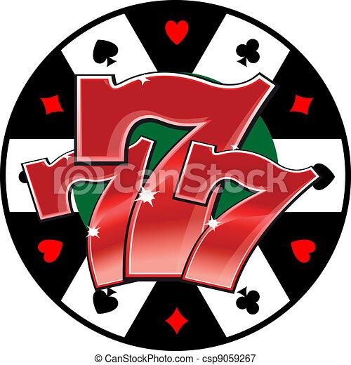 symbool, casino, gelukkig - csp9059267