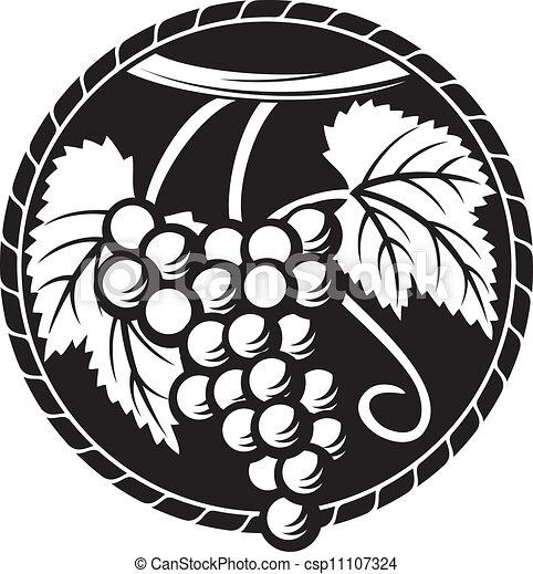 symbool, druif, ontwerp, druiven, (grapes - csp11107324