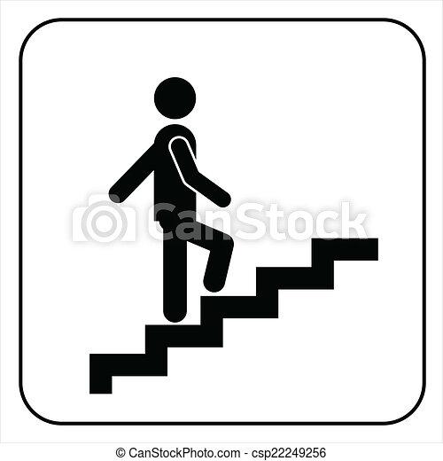 Symbool gaan trap boven man vector op symbool gaan for Trap naar boven