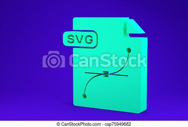 symbool., groene, 3d, pictogram, blauwe , render, minimalism, downloaden, document., concept., vrijstaand, bestand, svg, knoop, illustratie, achtergrond. - csp75949682