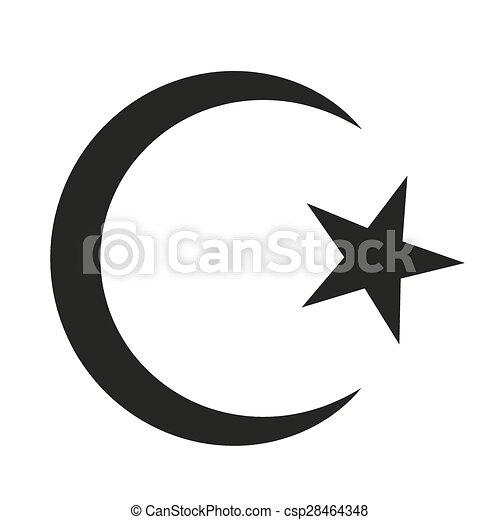 symbool, islam. ster, illustration., islam., symbool, achtergrond