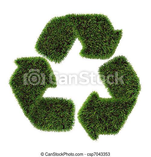 symbool, recycling, gras - csp7043353