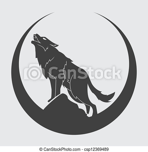 symbool, wolf - csp12369489