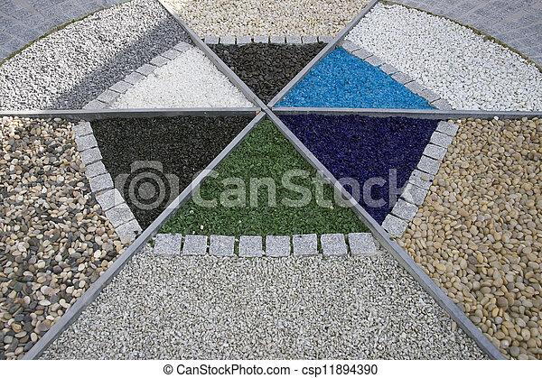 Ongebruikt Symetric, ontwerp, tuin, terras. Steentjes, tuin, bakstenen AV-85