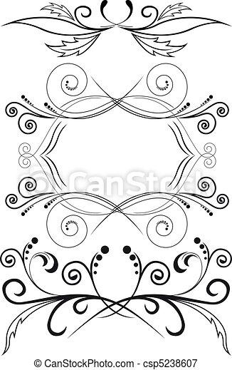 symmetriskt, sätta, agremanger - csp5238607