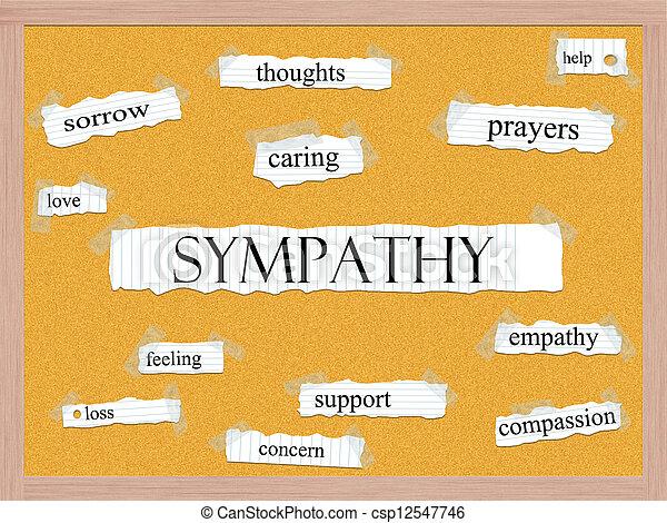 Sympathy Corkboard Word Concept - csp12547746