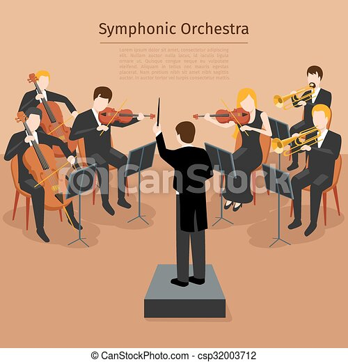 Symphonic ベクトル オーケストラ イラスト 音 Orchestra