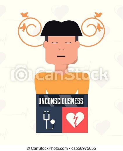 symptômes, coeur, atack, condition, homme - csp56975655