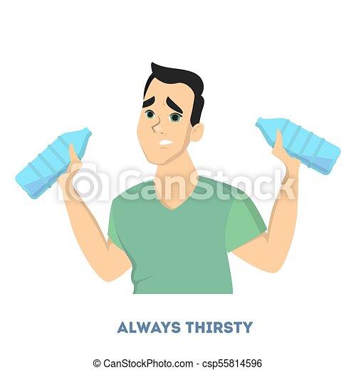 micción frecuente siempre sediento no diabético
