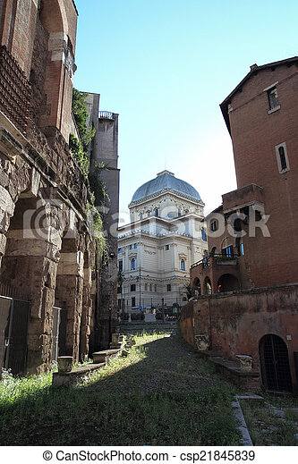 synagogue in Rome - csp21845839