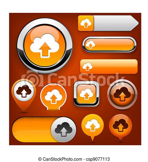 Sync high-detailed web button collection. - csp9077113
