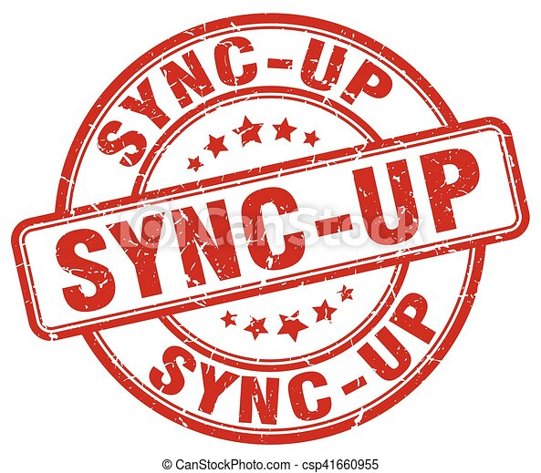 sync-up red grunge stamp - csp41660955