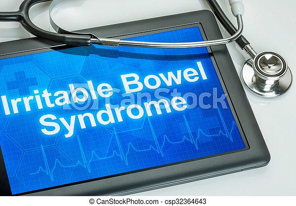syndrome, tablette, intestin, diagnostic, irritable, exposer - csp32364643