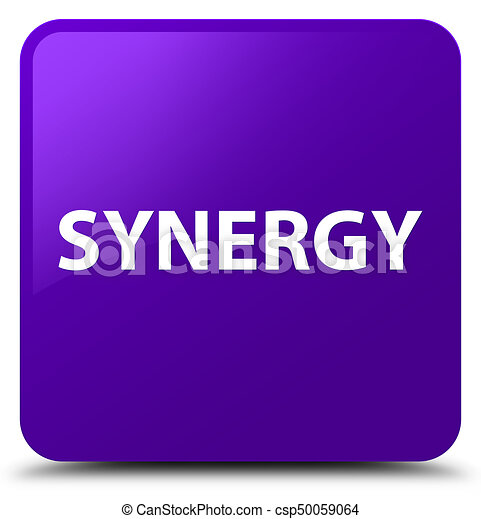 Synergy purple square button - csp50059064