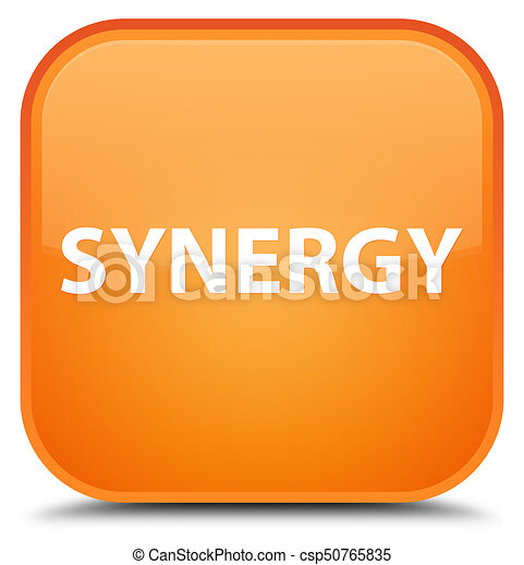 Synergy special orange square button - csp50765835