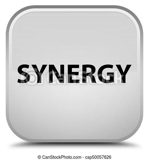Synergy special white square button - csp50057626