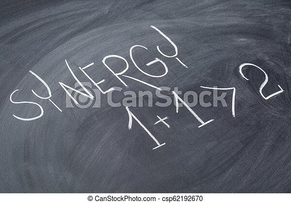 synergy, tabule, pojem - csp62192670