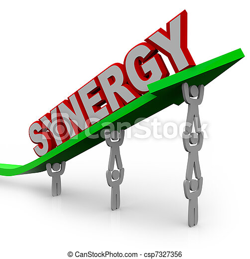 Synergy - Teamwork People Partner for Combined Strength - csp7327356