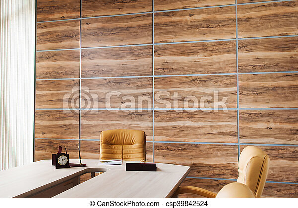 Synth tique bureau mur bois conception int rieur - Bois pour mur interieur ...