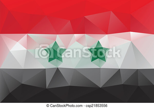 Syria Flag Triangular Polygonal Pattern Clipart Vector Search - Syria flag