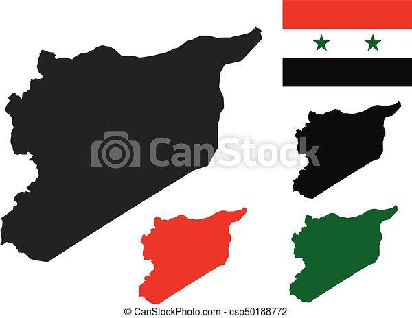 Syrien Vektor Karta