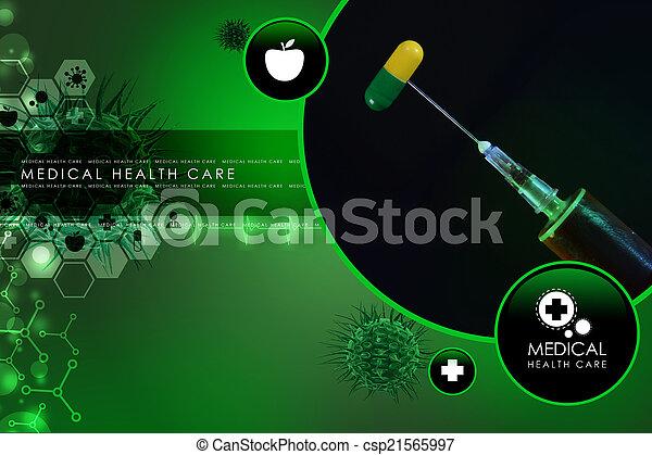 syringe and medicine - csp21565997
