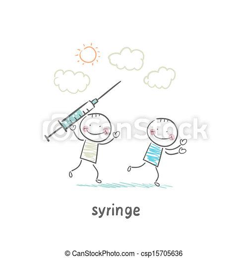 Syringe  - csp15705636