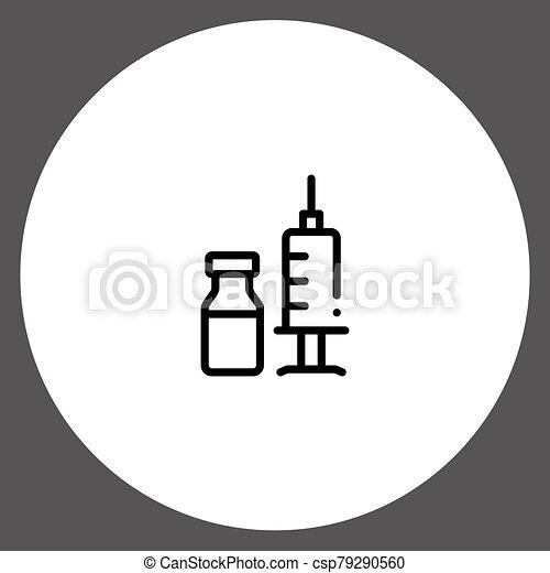 Syringe vector icon sign symbol - csp79290560
