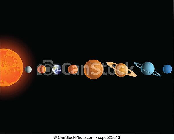 systém, sluneční - csp6523013