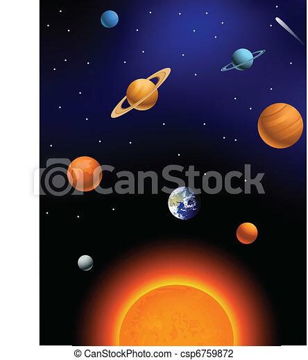 systém, sluneční - csp6759872