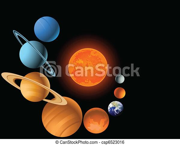 systém, sluneční - csp6523016