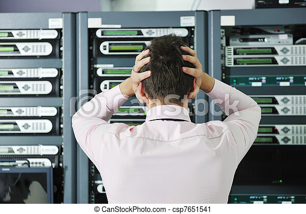system fail situation in network server room - csp7651541