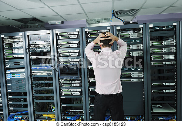 system fail situation in network server room - csp8185123