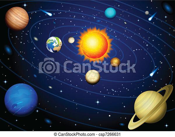Sonnensystem - csp7266631