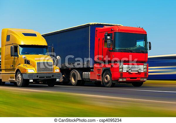 szállítás, rakomány - csp4095234