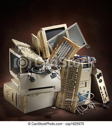 számítógépek, öreg - csp1625970
