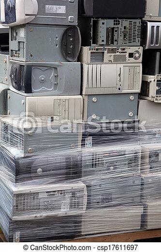 számítógépek, kazalba rakott - csp17611697