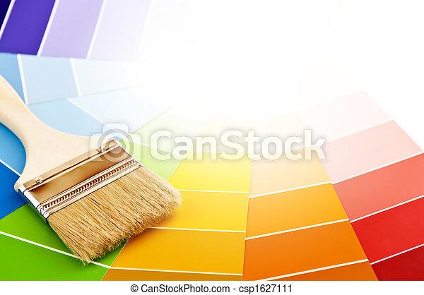 szín, festék, kártya, ecset - csp1627111