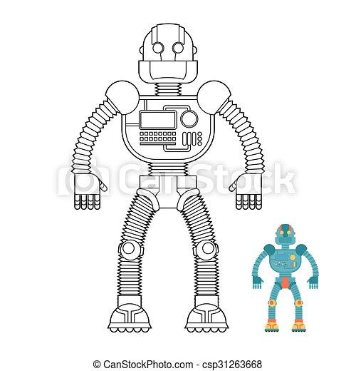 9cc06dc43b0d Színezés, Cyborg, -, Robot, Book., Humanoid, Gép, Machine., Future.,  Technikai