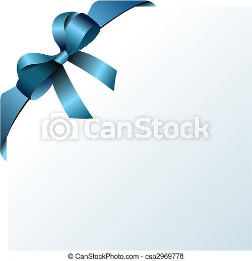 színezett, bow., vektor, ábra, rajzoló, karácsony - csp2969778