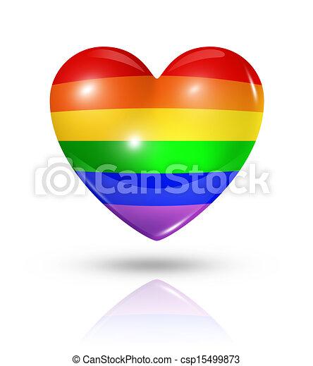 szív, szeret, buzi, jelkép, lobogó, büszkeség, ikon - csp15499873