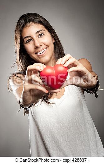 szív, woman hatalom - csp14288371