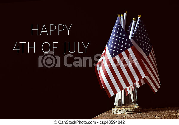 szöveg, amerikai, 4, zászlók, július, boldog - csp48594042